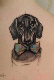 狗纹身图案 10款各种不同色调与风格的小狗纹身图案