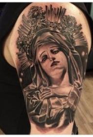 宗教纹身图案 多款耶稣与圣母玛利亚的宗教纹身图案