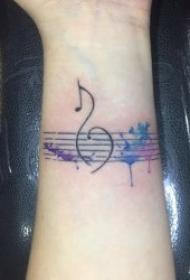 音乐符号纹身   8款婉转动听的音乐主题纹身图案