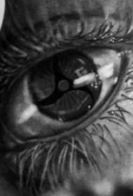 黑灰眼睛纹身  多款明亮有神的眼睛纹身图案