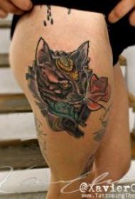 小猫纹身图案 多款动物可爱的小猫纹身图案10组