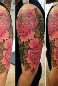 纹身牡丹花图案   9款雍容华贵的牡丹花纹身图案
