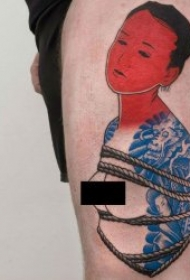 新传统人物纹身   9张个性十足的新式传统人物纹身图案