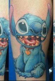 动画纹身图案 一组迪士尼动画片里的各种彩绘卡通纹身图案