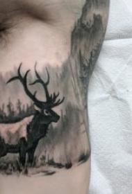 风景纹身图案 10组彩绘或黑灰色调的风景纹身图案
