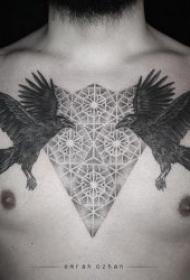 对称纹身图案 10张黑灰色调另类的对称纹身图案
