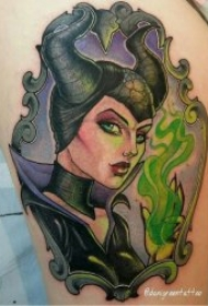 彩色卡通纹身图案 彩绘纹身人物或动物可爱卡通纹身图案