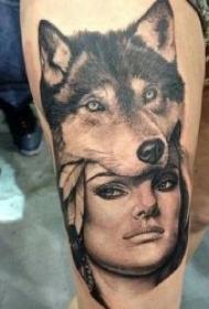 纹身图人物图片  多款形象而又生动的人物纹身图案