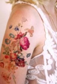 水彩纹身图案 10张唯美有创意的水彩色纹身图案