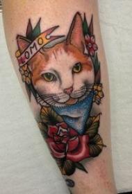 猫的纹身图案   可爱而又灵动机灵的猫纹身图案