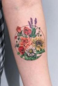 植物纹身图案 身10组花朵或树枝纹身的植物纹身图案