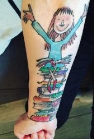 文藝紋身圖案 多款小清新紋身風格的文藝紋身圖案