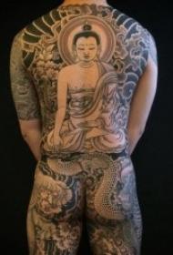 傳統龍紋身圖案 一組黑灰色調的傳統龍紋身圖片