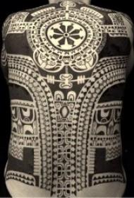 霸气纹身图案  多款黑色色调的霸气部落图腾纹身图案