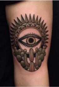 仙人掌纹身  多款设计巧妙而又时尚的仙人掌纹身图案