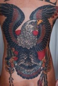 老鹰纹身  10款振翅高飞的雄鹰纹身图案