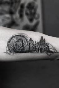 建筑物纹身  9款美轮美奂的建筑纹身图案