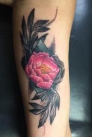花朵紋身圖案 美麗多姿的彩繪紋身植物花朵紋身圖案