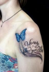 花体英文纹身图案 十分个性化的花体英文纹身图案