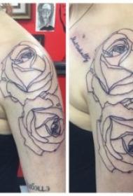 简易纹身简笔画 一组黑色线条简易纹身简笔画小图案