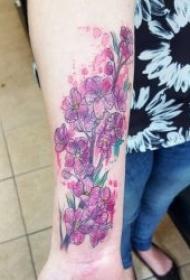 紋身圖花朵   9張婀娜多姿的花朵紋身圖案