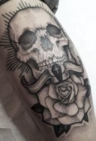 骷髏頭紋身 多款風格迥異創意十足的骷髏頭紋身圖案