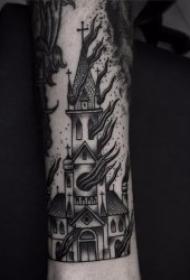 黑暗系纹身图案 一组带有神秘色彩的黑暗系纹身图案
