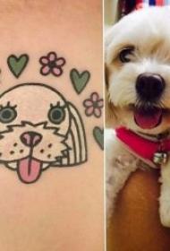 卡通纹身图案   把宠物画成可爱的简笔画纹身图案