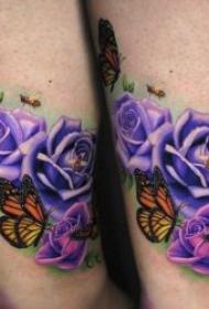 蝴蝶纹身图案 多款翩翩起舞不同风格的蝴蝶纹身图案