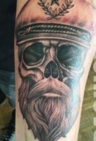 紋身人物圖片   9款奇趣的胡子人物紋身圖案