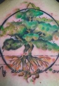 植物紋身圖案 彩色紋身品種不同的植物紋身圖案