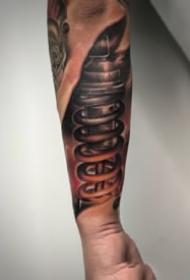 適合男性的機械3d手臂紋身圖案