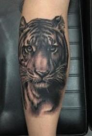 紋身老虎頭圖片  多款兇猛霸氣的老虎頭紋身圖案