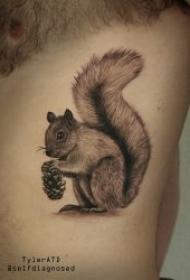 松鼠纹身  9张技巧性十足的呆萌松鼠纹身图案