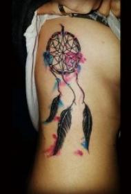 捕梦网纹身图   具有梦幻色彩的捕梦网纹身图案