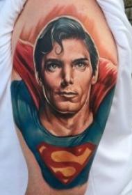 超人图案纹身  9张威风凛凛的漫画超人纹身图案