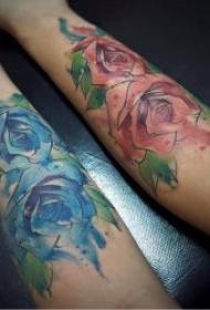 花朵纹身图案 10张纹身植物叶子花卉等纹身图案