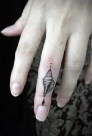 手指頭紋身 黑色紋身簡筆畫手指頭紋身圖案