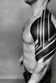 个性简单纹身图案   9张简单设计的线条纹身图案