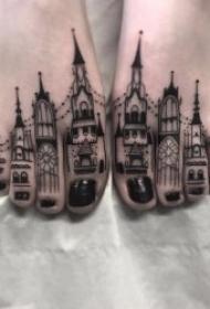 建筑物纹身   多款造型奇特的建筑物纹身图案