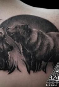 纹身熊图案   多款粗壮凶?#25237;?#21448;创意的熊纹身图案
