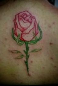 玫瑰花纹身图案 女生身体各部位植物玫瑰花的纹身图案