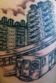 創意紋身圖片  9張飛速行駛的地鐵紋身圖案