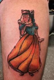 小猪纹身图案  呆萌可爱的小猪纹身图案