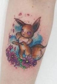 动画纹身图片   温顺可爱的口袋妖怪动画纹身图案