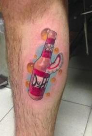 啤酒纹身图案   平顺甘醇清爽可口的啤酒瓶纹身图案