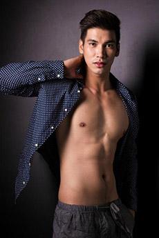 一组8张中国帅哥男模图片