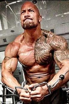 歐美硬漢巨石強森肌肉寫真圖片