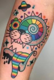 彩色插画纹身 9张漂亮的彩色插画纹身图片