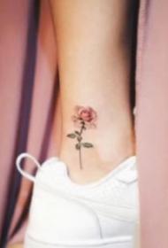腳踝小紋身 精致的一組女生腳踝處趙小清新的紋身圖
